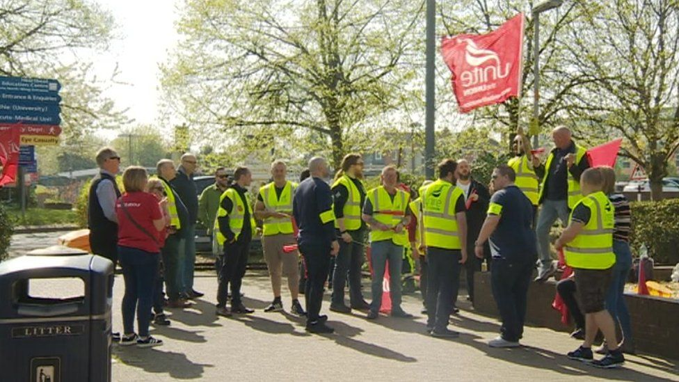 Mitie Security workers at Southampton General Hospital