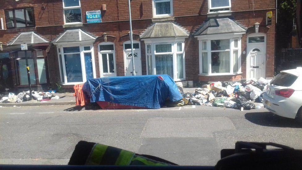 Rubbish in Birmingham