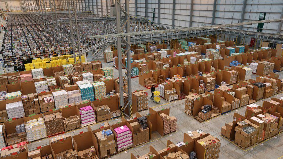Amazon's fulfilment centre in Peterborough, England