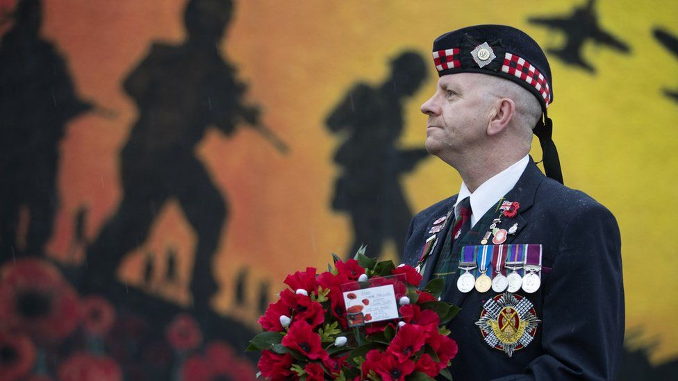 Charlie MacVicar at the Royal British Legion Remembrance Garden in Grangemouth