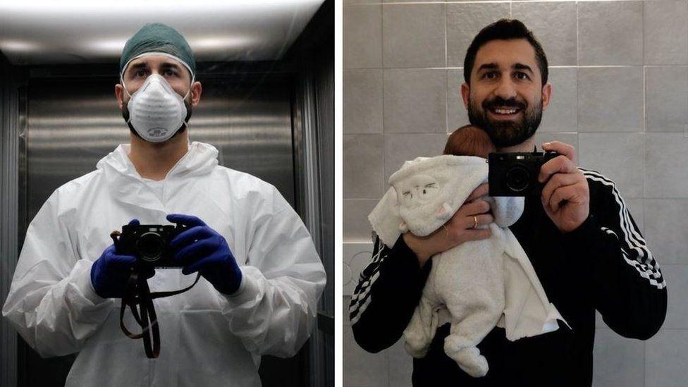 Paolo Miranda and baby