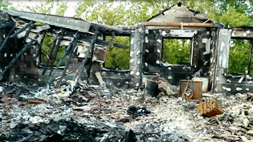 Fire damage at care home