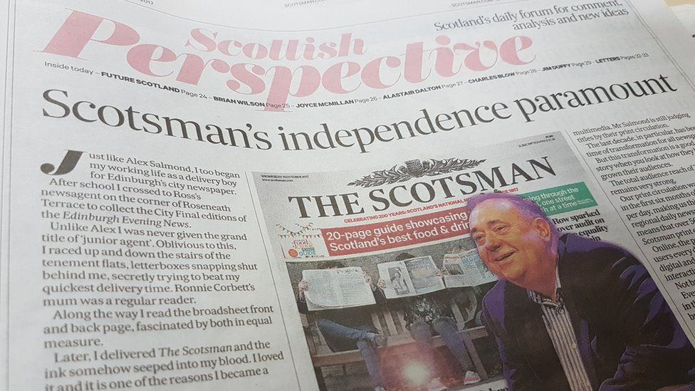 Editor's opinion piece in The Scotsman