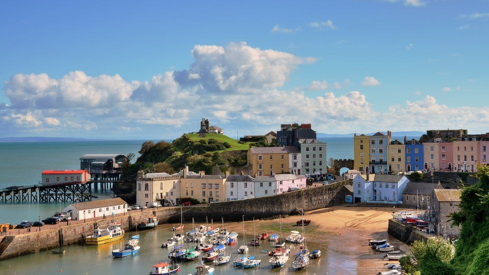 Tenby Harbour: The Batak family love visiting the beach