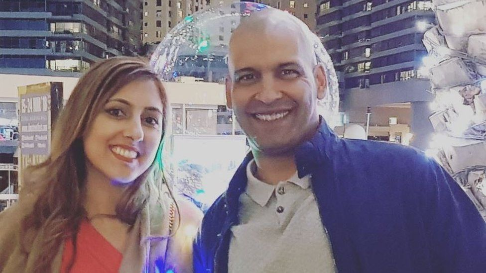 Sharon Luca-Chatha and husband Jas