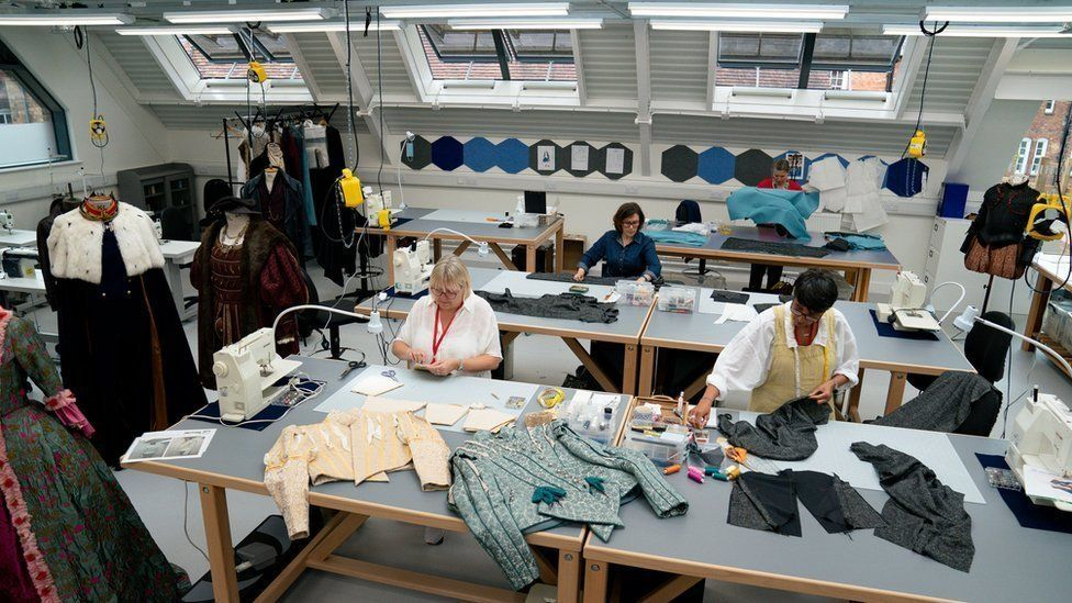 The redeveloped costume workshop