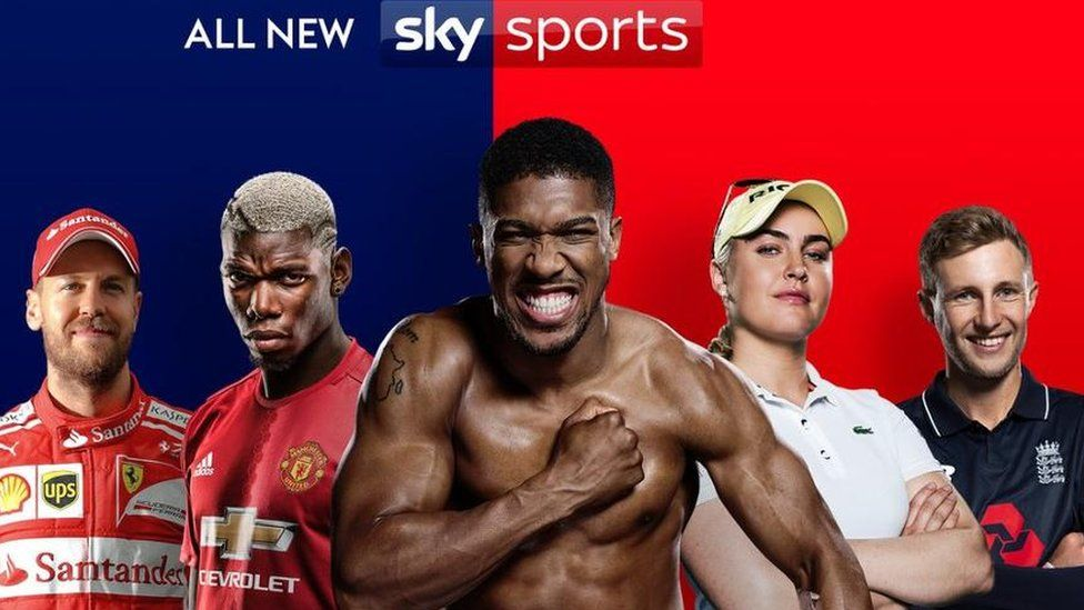 SkySports advert for its segmented channels