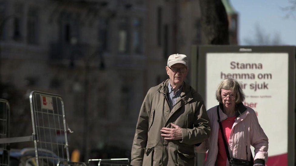 Elderly couple in Stockholm