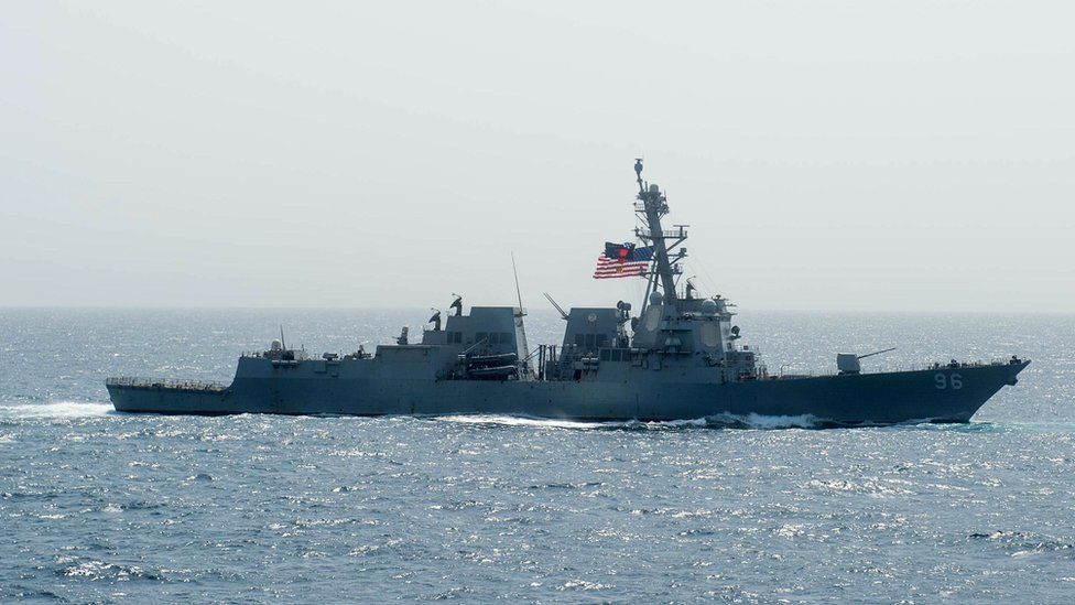 File photo showing the USS Bainbridge in the Arabian Sea (17 May 2019)