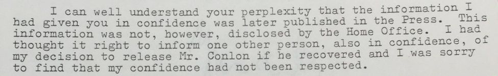 Letter from William Whitelaw to Cardinal Basil Hume on 3 March 1980