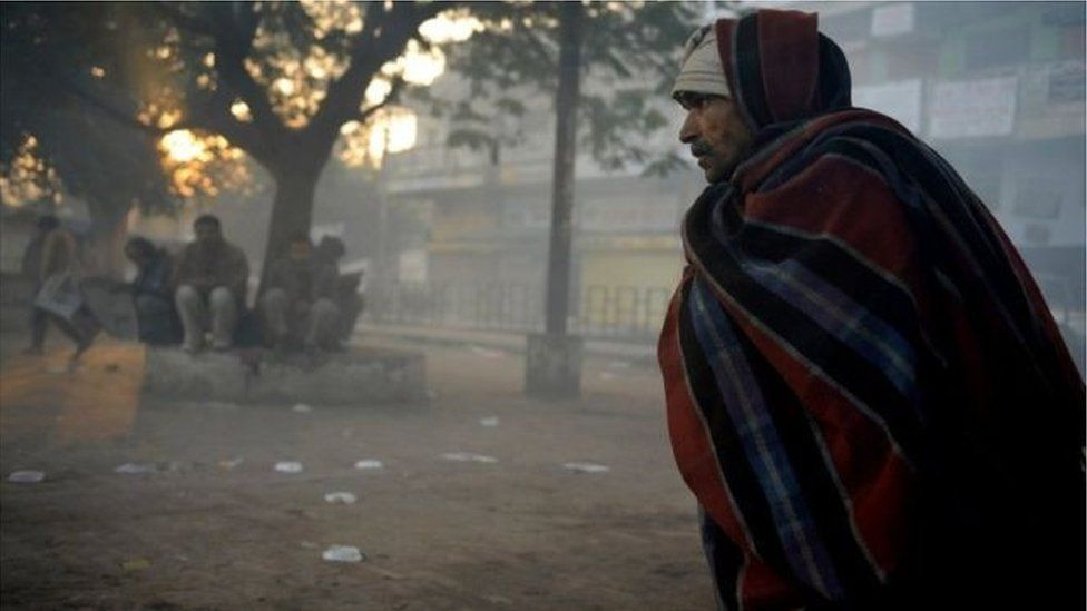 Poor man in Delhi