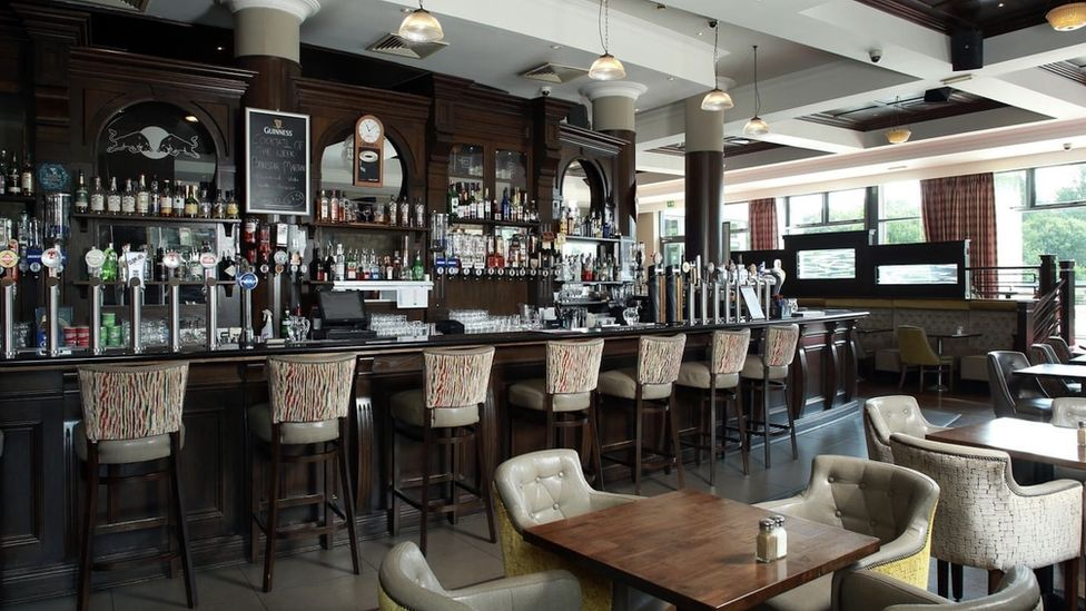 Empty bar in the Armagh City Hotel