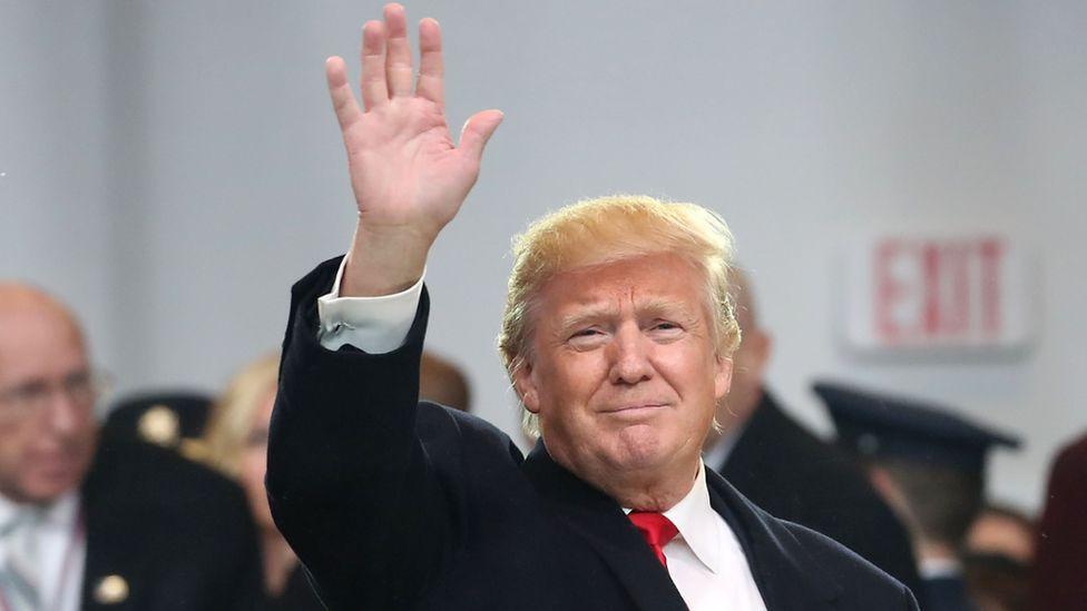 President Donald Trump at his inauguration, January 2017