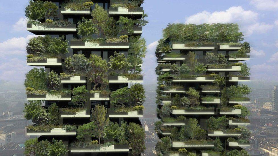 Green skyscrapers