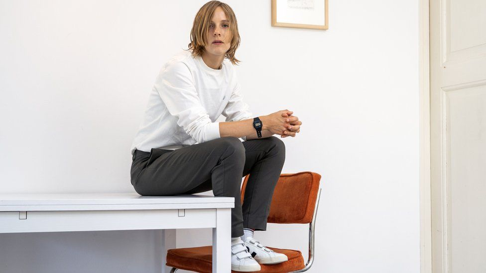 Dutch writer and poet Marieke Lucas Rijneveld poses during a photo session in Utrecht on July 22, 2020