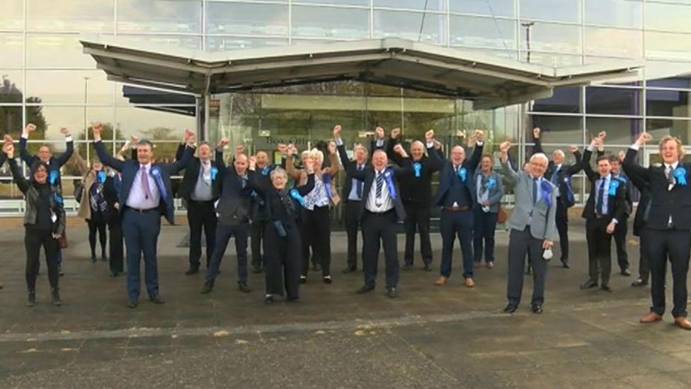 North East Lincolnshire councillors celebrating