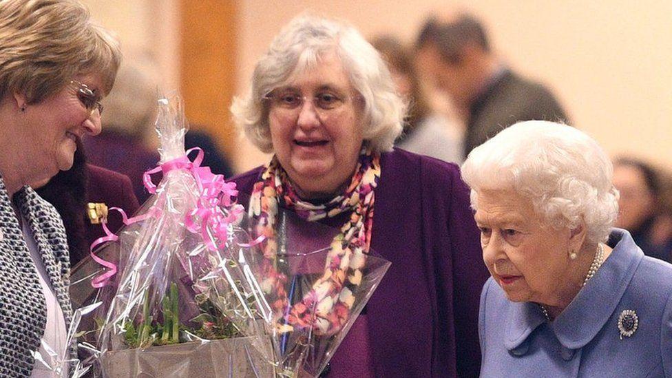 Queen at WI meeting, Sandringham