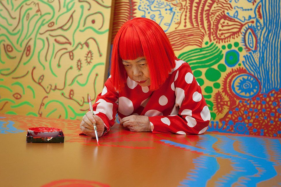 You could learn how to paint like artist Yayoi Kusama with a little guidance from Corey D'Augustine