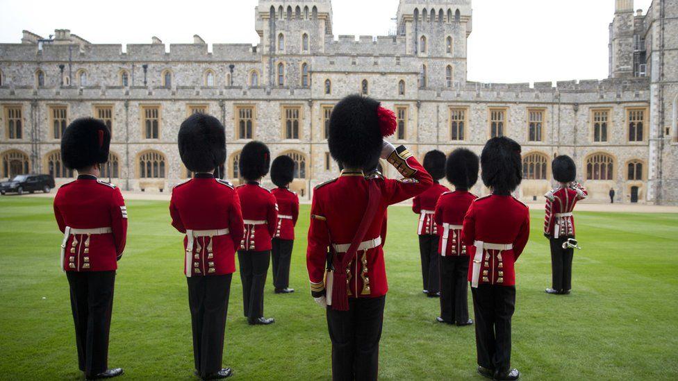 Royal Guardsmen at Windsor Castle