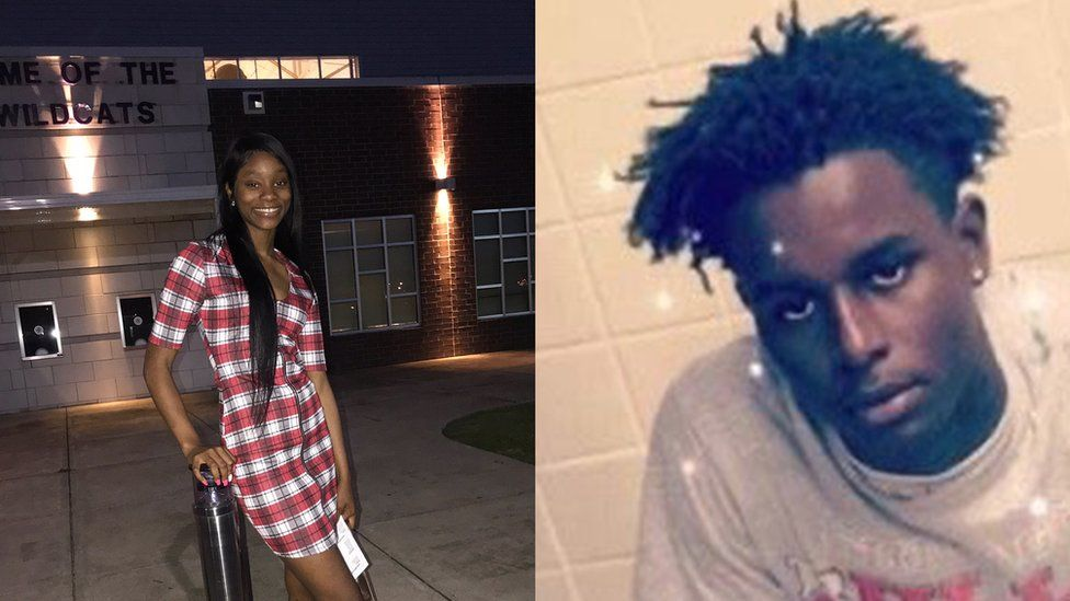 Lateria Moran and her cousin Jaquarrious Roberson, who was killed