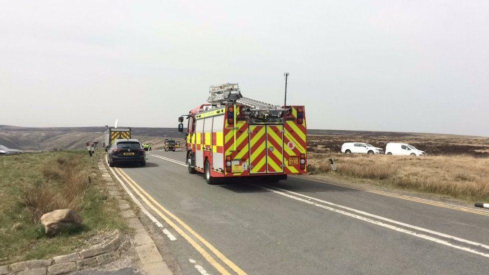 Moor fire Marsden on Tuesday