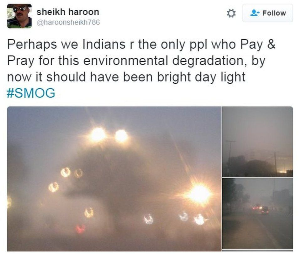 Perhaps we Indians r the only ppl who Pay & Pray for this environmental degradation, by now it should have been bright day light