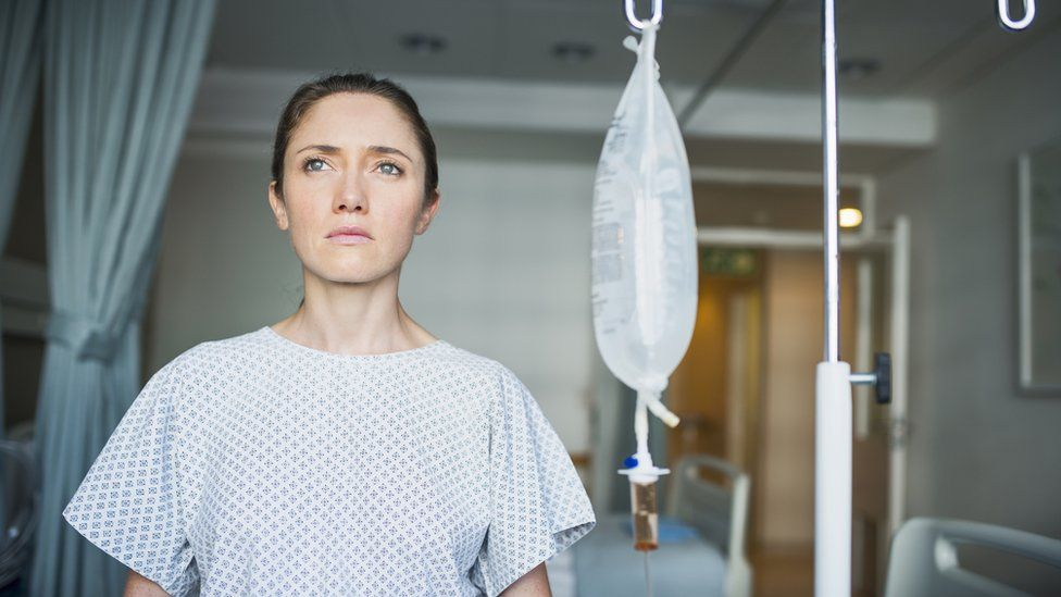 File picture of woman in hospital