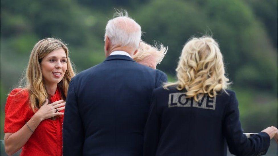 Carrie Johnson, Boris Johnson, Joe Biden, Jill Biden