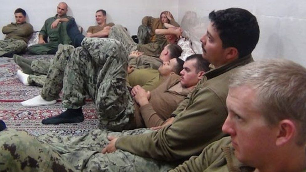 A group of 10 US sailors arrested for entering Iranian waters