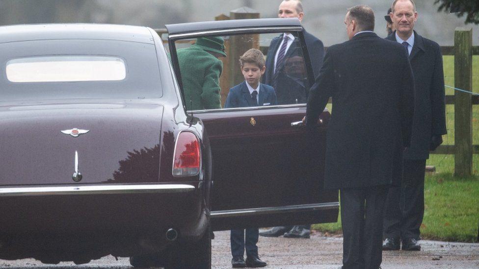 Viscount Severn and Queen Elizabeth II