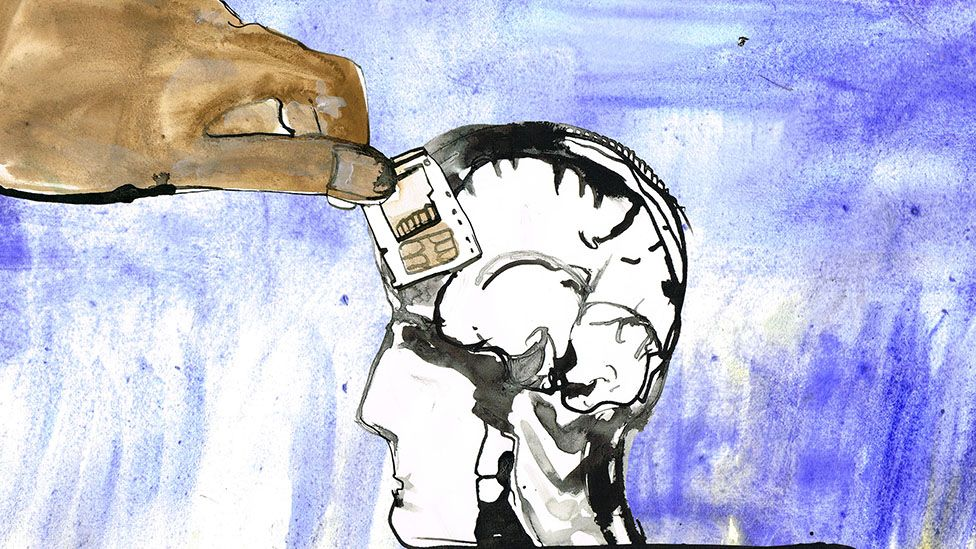 putting sim card in brain