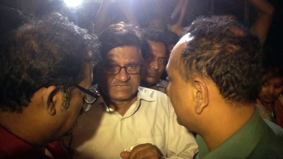 Mr Dipon's father Abul Kashem Fazlul Haq talks to media after his son's death