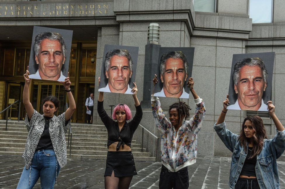 """A protest group called """"Hot Mess"""" outside the Manhattan courthouse"""