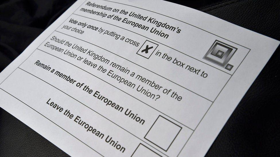 EU referendum postal vote ballot paper