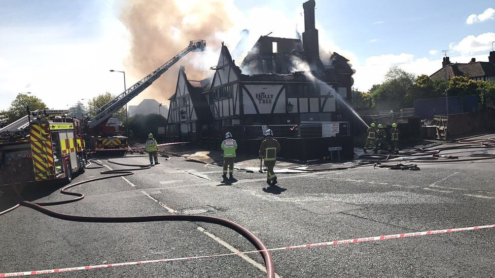 Fire at Margate pub