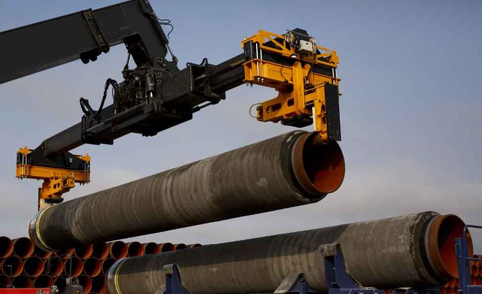 Gas pipeline under construction in Germany