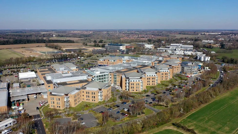 NNUH from the air