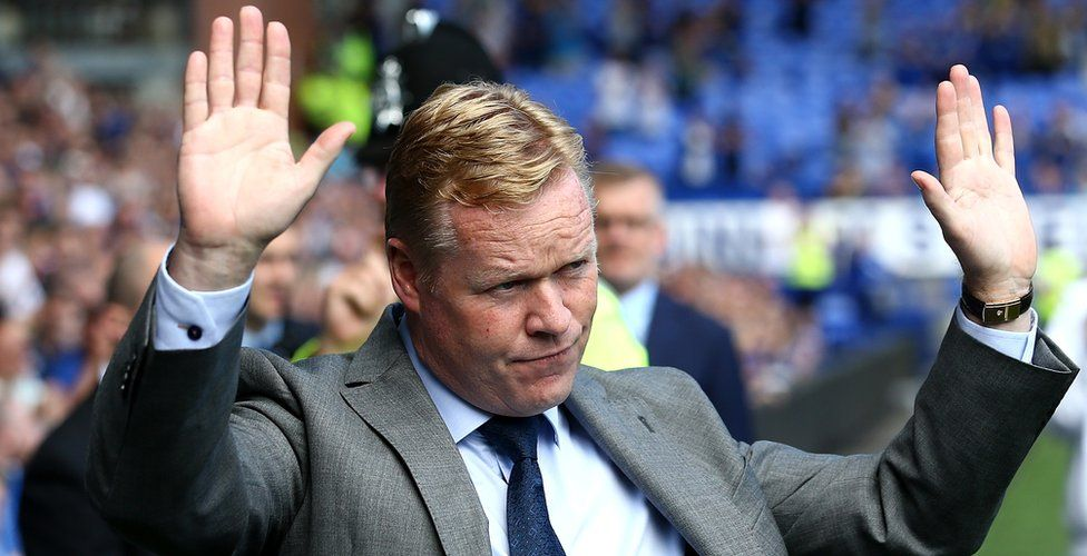 Ronald Koeman acknowledging Everton fans