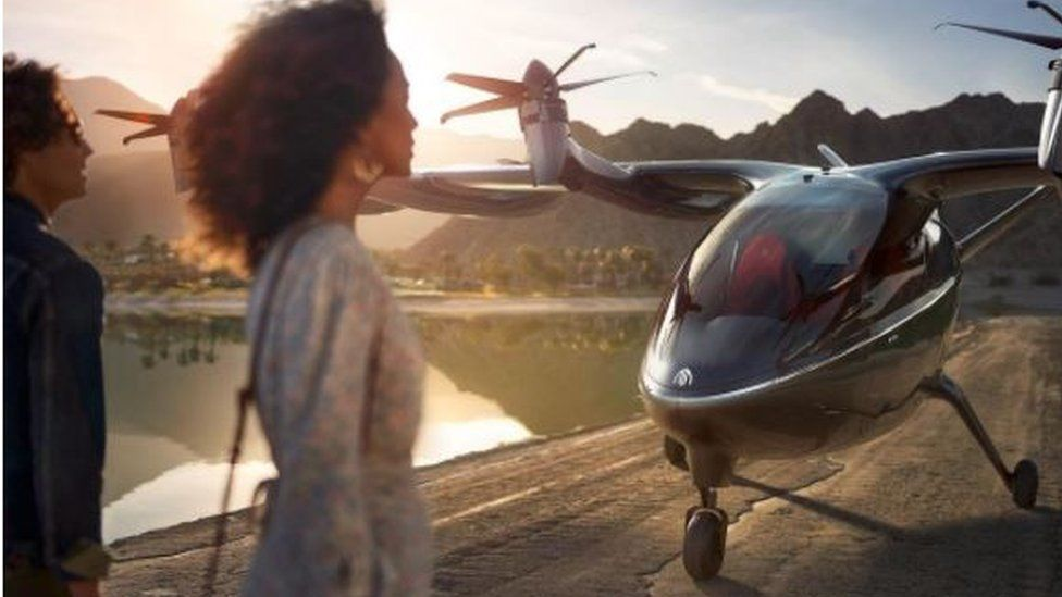 United Airlines has invested in flying taxi firm Archer as part of a $1.1bn deal.