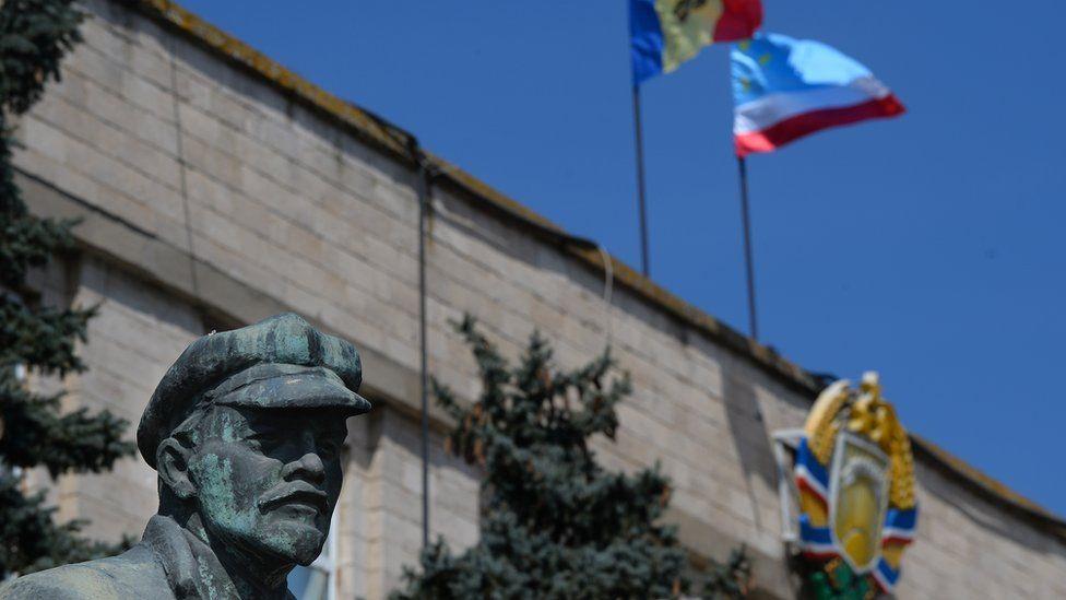 Lenin statue in Gagauzia, Moldova