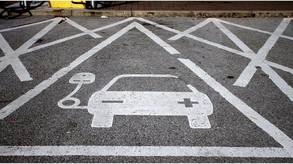 Car charging area
