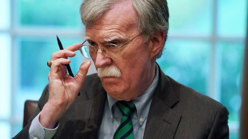 Former national security adviser John Bolton during a bilateral meeting at the White House April 2, 2019