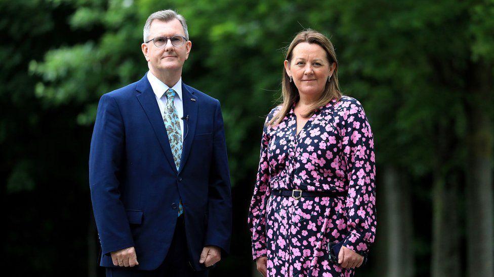 Sir Jeffrey Donaldson and Paula Bradley