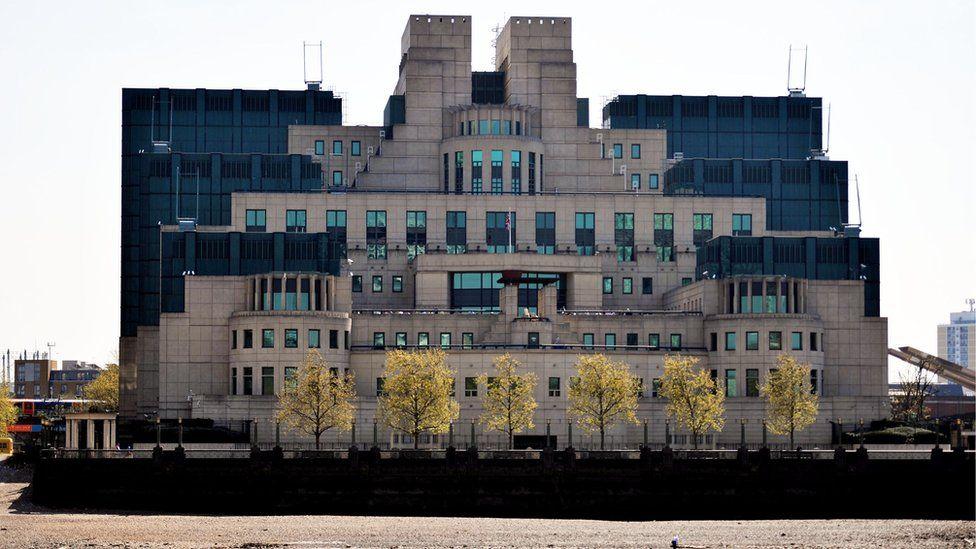 The headquarters of MI6 (The Secret Intelligence Service (SIS) at Vauxhall Cross, London