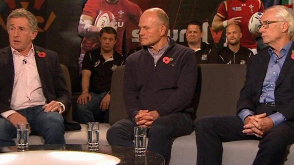Jonathan Davies, Andy Robinson and Peter Jackson