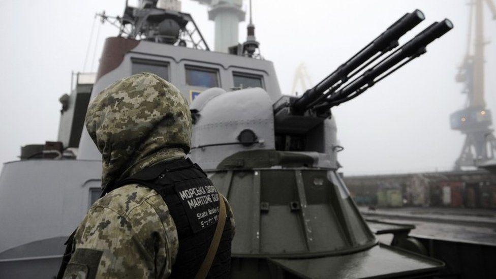 Ukrainian patrols boat in Mariupol, Sea of Azov port, 27 November 2018.