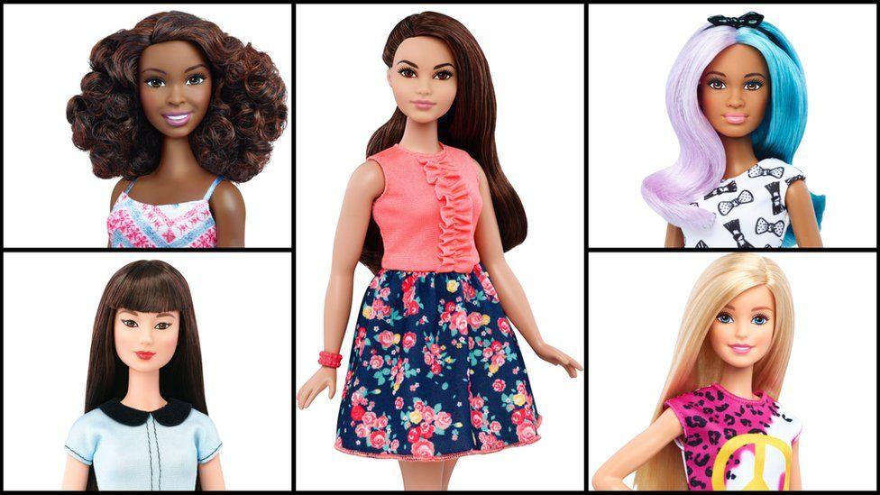 Composite image of new Barbie models