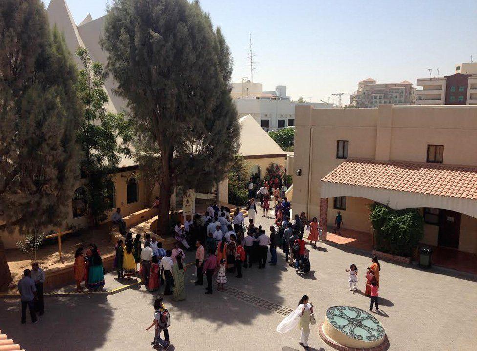 Internal courtyard of Holy Trinity Church compound