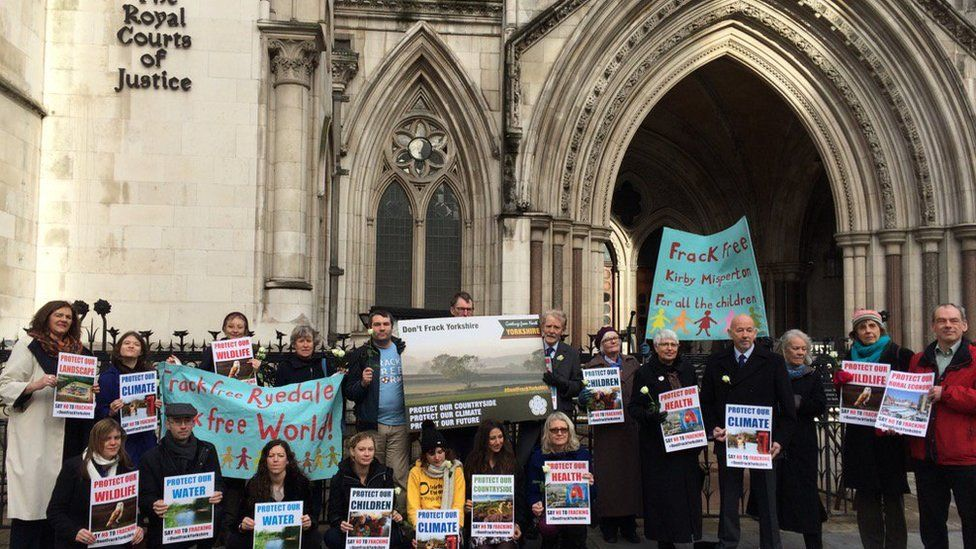 Protesters outside High Court