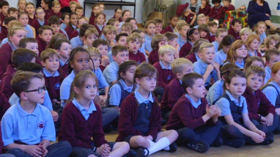 Evenlode Primary school pupils